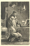 Eugène Ferdinand Victor Delacroix: Studierzimmer, Faust allein